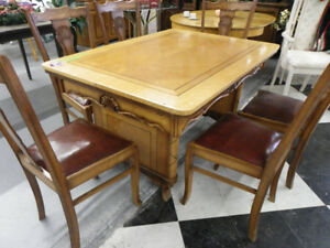 Canadiana Art Deco Table & 6 Chairs