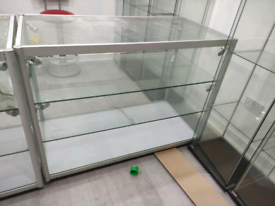 Shop glass display counters cabinets