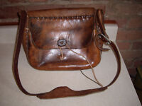 vintage hippie leather handbags (sacoche purse)
