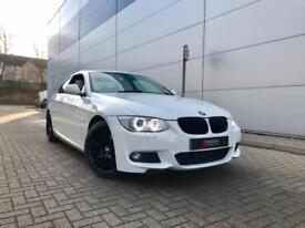 2011 11 reg BMW 320d M Sport Coupe + WHITE + SAT NAV + LCI + LEATHER