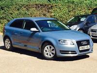 "2010 Audi A3 1.6TDI ( s/s ) Blue 3 Door only 29,800 Miles FSH ""FREE ROAD TAX"""