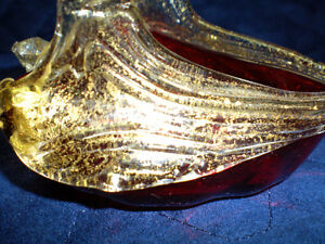 RUSSIAN GLASS AND 24 KT GOLD SWAN PIECE Kitchener / Waterloo Kitchener Area image 2