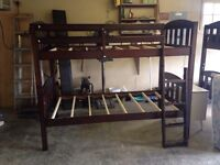 New dark wood bunkbeds.