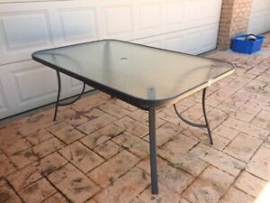 FREE outdoor glass top table - 6 seater