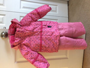 Toddler girls 18 month snowsuit and mittens