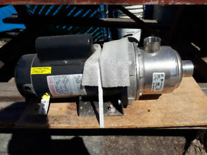 NEW FRANKLIN ELECTRIC 2 HP HORIZONTAL MULTISTAGE WATER PUMP $750