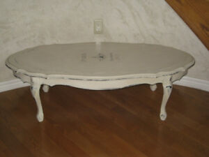 Coffee table antique finish