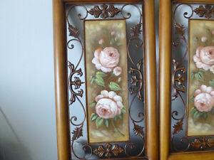 (2) Metal Wall Art Hand Painted with Roses Oakville / Halton Region Toronto (GTA) image 2