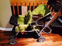 Joovy green double stroller
