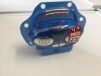 Blue micro very small battery radio New with in ear headphones,