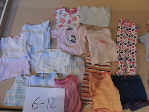 Girl quality clothes at cheap prices-6-12 m-See ad for details