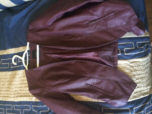 Open faux leather jacket