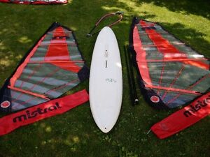 Complete Windsurf / Winsurfing Package -board, sails, boom, mast