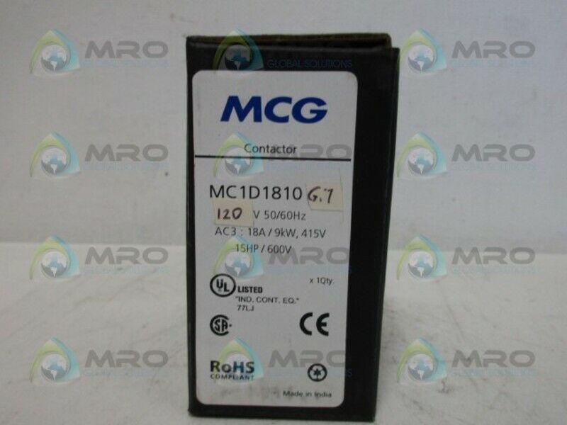 MCG MC1D1810 CONTACTOR 120V *NEW IN BOX*