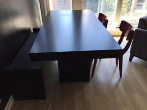 West Elm Dining Room Table, Matching Bench, Chairs, Bar Stools