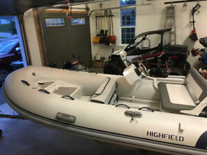 2016 Highfield dinghy with 20HP Tohatsu motor. Only 20 hours.