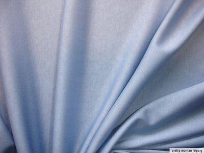 1 Lfm Jersey 2,94€/m²  Interlock taubenblau Baumwolle DI39