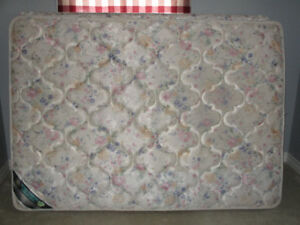 Double boxspring and mattress