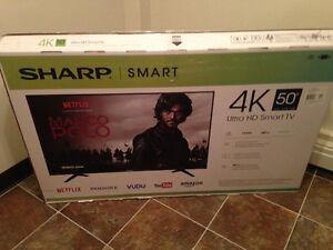 """Sony Sharp 4K 50"""" Ultra HD Smart TV"""