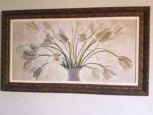 Stunning Canvas Print with Antique Look Frame - *PICK UP ONLY*