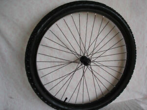 NEW 26 INCH BLACK ALUMINUM FRONT MTB WHEEL.