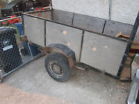 UTILITY TRAILER READY TO PULL