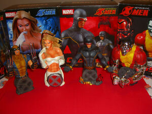 lot of 4 astonishing X-Men statues