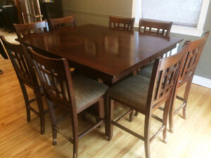 High Dining Room Table - seats 8