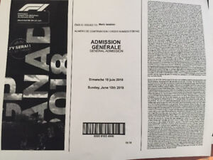 F1 Montreal tickets general admission