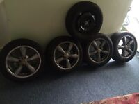 Alloy wheels with nearly new tyres and extra brand new spare wheel with brand new tyre