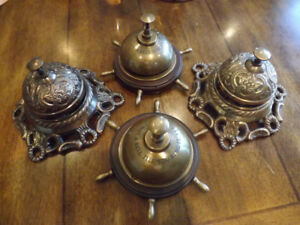 Victorian Style Hotel Desk Bell - clochette en laiton. WOW 50$ c