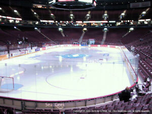 2 Vancouver Canucks vs Calgary Flames Tickets-Section 111 Row 7