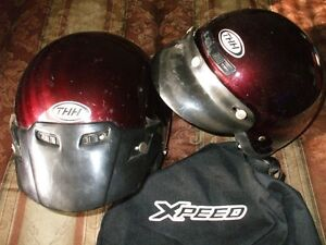 2 helmets for 80.00 ,and a XL Motorcycle cover for 40.00 Stratford Kitchener Area image 1