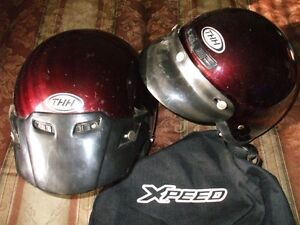 2 helmets for 70.00 ,and a XL Motorcycle cover for 40.00