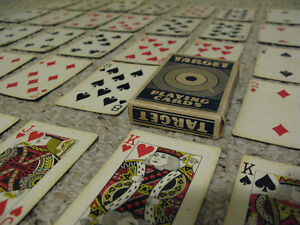 """1960s Canadian """"TARGET"""" Playing Cards in Box, Estrie Graphics"""