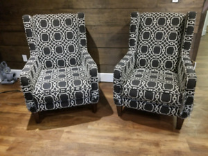 2 comfortable upholstered chairs