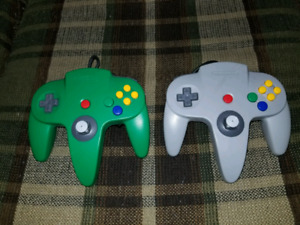 2 N64 Official Nintendo 64 Controllers $30