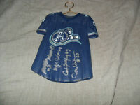CFL Argos Ceramic Hanger Jersey Signed by 4 Brazely Pleasant