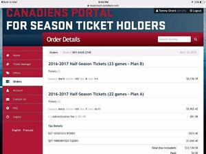 Montreal Canadiens HALF SEASON TICKETS