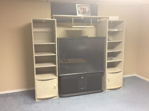 50 inch projector tv and TV cabinet