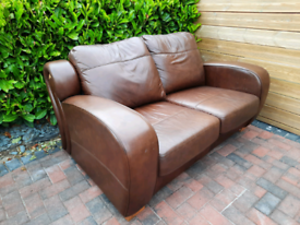 2 seater leather sofa (delivery available
