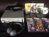Xbox 360 . 12 games 2 controllers , Kinect kit.