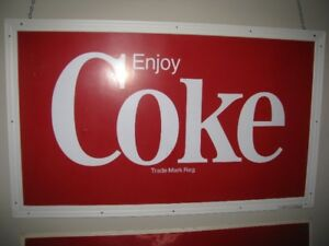COCA  COLA COKE METAL  4  FOOT SIGN  ENJOY COKE
