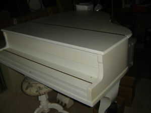 White Baby Grand Piano Need it gone Belleville Belleville Area image 2