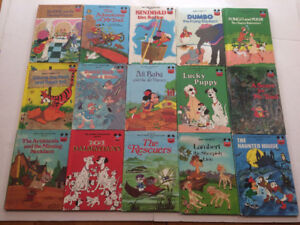 55 Vintage Books, WALT DISNEY Wonderful World Of Reading