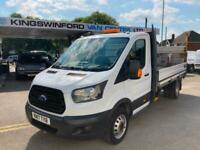2017 (17) Ford Transit T350 LWB Single Cab Dropside With Tail Lift, Twin Wheel