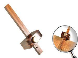 Anreißlehre Mini 130mm Anreißer Abstandsmesser Falzmaß Messing Möbelbau messen