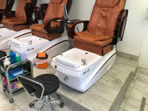 used nail salon chairs with foot bath