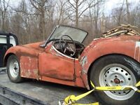 TRIUMPH TR2 1954 EXTREMLY RARE BARN FIND!!!