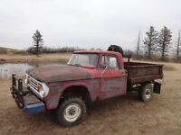 1965 dodge power wagon 3/4 ton 4x4 v8 4spd pto winch dump box